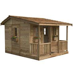 Cedar Playhouse, Build A Playhouse, Playhouse Outdoor, Pallet Playhouse, Modern Playhouse, Playhouse Kits, Cozy Cabin, Cozy House, Shed Cabin