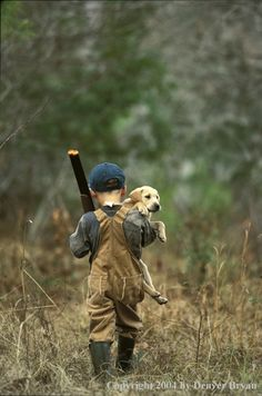 """I always said """"this will be my little boy in a couple of years"""" and after both boys & 5 Labradors I never got a picture like this.."""