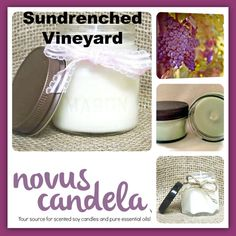 Soy Candle Mason Jar  Sundrenched Vineyard Scented by NovusCandela