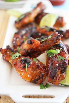 Baked Honey-Sriracha Chicken Wings Recipe on Yummly