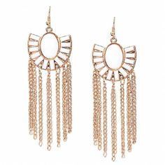 Yoins Boho Tassel Drop Earrings (€5,38) ❤ liked on Polyvore featuring jewelry, earrings, accessories, jewelry - earrings, gold, gold fish hook earrings, geometric earrings, gold tassel earrings, yellow gold earrings and bohemian jewelry