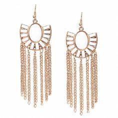 Yoins Boho Tassel Drop Earrings (5.86 CHF) ❤ liked on Polyvore featuring jewelry, earrings, accessories, gold, bohemian earrings, geometric jewelry, gold jewellery, tassel drop earrings and boho earrings