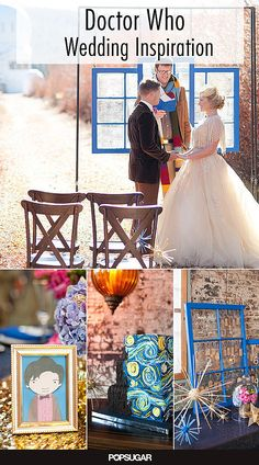 Something blue (for the TARDIS), and lots of wibbly wobbly time travel homages in a Doctor Who wedding.