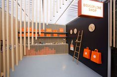 shop, design, branding, orange, black,