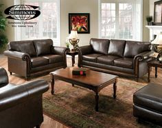 San Diego Chocolate Sofa & Loveseat