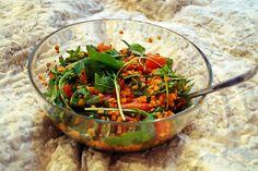 Rote-Linsen-Salat mit Rucola und Tomaten   Lieblingsküche