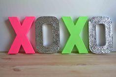 neon+rhinestone letters!