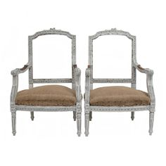 Antique Louis XVI Style Chairs - A Pair on Chairish.com