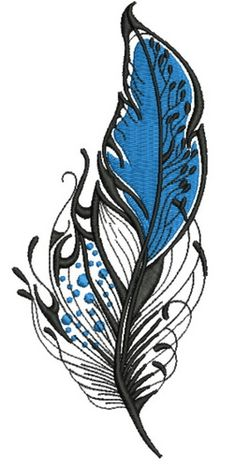 Feather 20 machine embroidery design. Machine embroidery design. www.embroideres.com