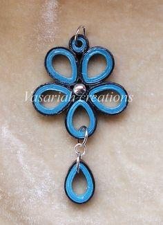 Flower quilling pendant by OmbryB.deviantart.com on @deviantART