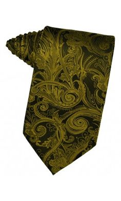 New Gold Tapestry Formal Necktie