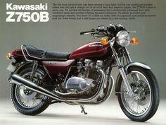 Kawasaki Z750B ad.