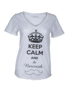 """Keep Calm"" By Julie Pixel'Touch T-shirt Lily 100% coton flammé"