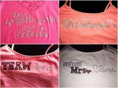 Bejeweled wedding shirts.