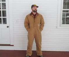 Heavy Insulated Carhartt Work Suit Coveralls by PineHillVintage