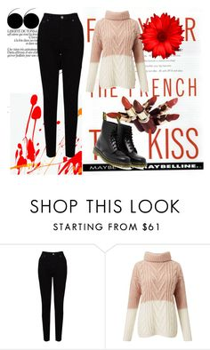 """""""Untitled #7"""" by evelinadedic ❤ liked on Polyvore featuring Maybelline, EAST, Miss Selfridge and Dr. Martens"""