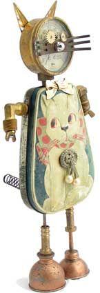 FLAT FISH PAPER ARTS: Amy Flynn - Found Object Dolls