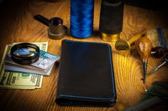 Carries a ton of cards, cash and receipts, Iphone 7 and iphone 7 plus :) Keep everything in one place. __________________________________________ Bi-Fold Breast leather wallet is a great gift for anybody for Birthday, Christmas, Anniversaries, Graduation, Fathers/Mothers Day, Valentines Day and any other Special Occasion. Make your wallet by yourself. Choose the color of leather and and a thread.  ____________________  Crafted with love. __________________________________________________...