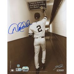 "Autographed New York Yankees Derek Jeter Steiner Sports 8"" x 10"" Sepia Tunnel Photograph"