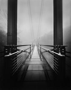 Scott Speck - Foot Bridge in the Mist (pinhole photograph)