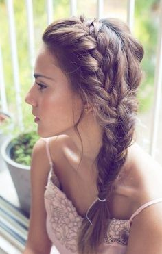 Or maybe this but with a bun at the end instead of braided all the way @kbcrawford17 @crawford1862