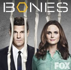 David Boreanaz and Emily Deschanel in Bones Emily Deschanel, David Boreanaz, Bones Season 10, Tj Thyne, Tamara Taylor, Michaela Conlin, Seeley Booth, Movies