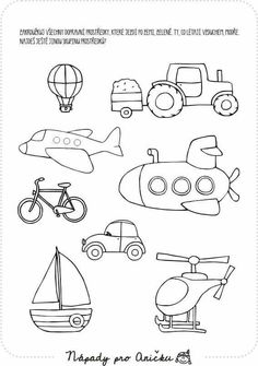 Kulkuneuvoja Drawing Lessons For Kids, Art Drawings For Kids, Easy Drawings, Art For Kids, Crafts For Kids, Body Preschool, Preschool Learning, Preschool Activities, Transportation Theme Preschool