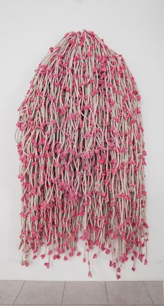 Hassan Sharif, 'Pink Knots,' 2015, Gallery Isabelle van den Eynde