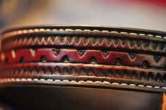 The Moe Rockin a 1.75 wide custom leather belt