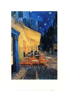 Cafe Terrace at Night, 1888 Vincent Van Gogh #impressionism