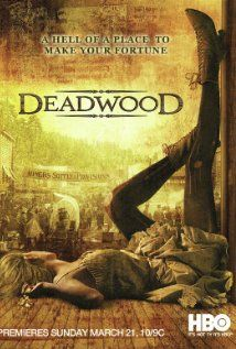 """""""Deadwood"""" - Created by David Milch. With Timothy Olyphant, Ian McShane, Molly Parker, Brad Dourif. A show set in the late revolving around the characters of Deadwood, South Dakota; a town of deep corruption and crime. Deadwood Series, Deadwood Tv Show, Hbo Series, Best Series, Norman Rockwell, Movies To Watch, Movies Box, Cinema, Poster"""
