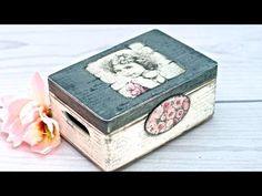 Dia de Amigas - Caja romantica - Tecnica de transferencia y decoupage - YouTube