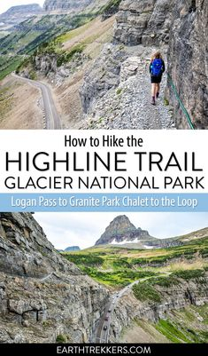 How to hike the Highline Trail Glacier National Park: Logan Pass to Granite Park Chalet to the Loop with a detour to Grinnell Glacier Overlook. babies flight hotel restaurant destinations ideas tips Glacier National Park Montana, Glacier Park, Chile, Continental Divide, Us National Parks, Koh Tao, Best Hikes, Travel Usa, Europe