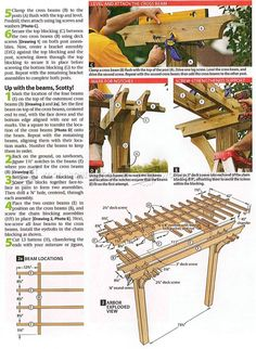 #2519 Arbor Swing Plans - Outdoor Furniture Plans