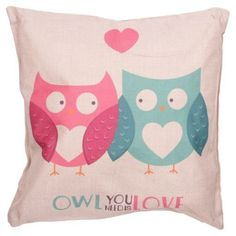 Shop today for Cushion with Insert - OWL YOU NEED IS LOVE by weeabootique !