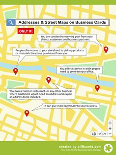 Do I need a physical address on my business card? Check out our Complete Guide to Business Cards (100+ pages) for more great tips http://www.allbcards.com/en/l/complete-guide-to-business-cards.html
