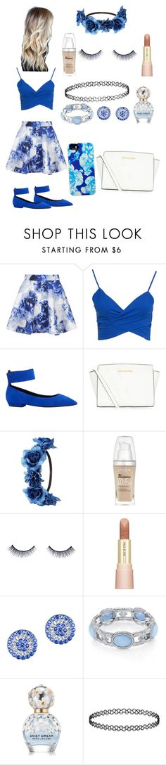 """""""Floral Blue"""" by morgan0624 ❤ liked on Polyvore featuring Topshop, Giuseppe Zanotti, MICHAEL Michael Kors, Charlotte Russe, L'Oréal Paris, Napoleon Perdis, Paul & Joe, CZ by Kenneth Jay Lane, 1928 and Marc Jacobs"""