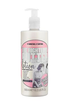 Soap & Glory The Righteous Butter Body Lotion, which contains fruit acids and vitamin E.