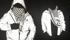 Flashback Photobomber Hoodie (w/ Silver-Screen Scarf) | Men's Reflective Jacket | Betabrand & Chris Holmes