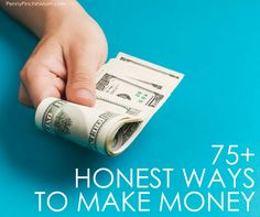 Whether you want to replace or supplement your income, you need ideas.  These are 75 unique ways you can make money.