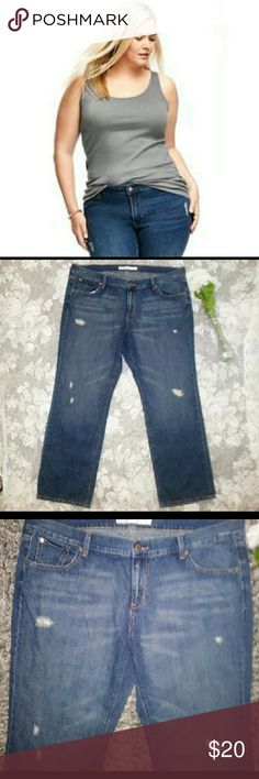 NWOT Old Navy Distressed Plus Size Jeans NWOT Old Navy Plus Size Distressed Straight Leg Jeans  Dark Wash  Size 18 Old Navy Jeans Straight Leg