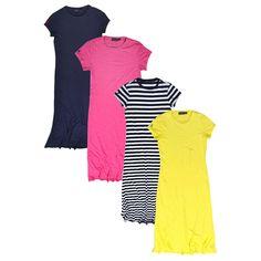 3e8f0f656 Polo Ralph Lauren Womens Maxi Dress Casual Lightweight Crew Neck Short  Sleeve Womens Maxi