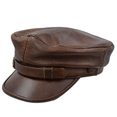 f9ffab21ee3cc Best Seller IFSUN Men s Leather Greek Fisherman Sailor Fiddler Driver Hat  Flat Cap online