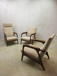 Mid centuryvintage design lounge set armchairs easy chairs Danish www.bestwelhip.nl
