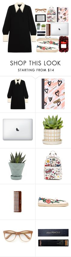 """go there"" by shealwaysfashion ❤ liked on Polyvore featuring Miu Miu, Mead, Chive, Anya Hindmarch, (MALIN+GOETZ), Gucci, Wildfox and Sloane Stationery"
