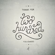 'Two Hundred' by Caligature™ // #caligature #type #typography #lettering #handlettering #handdrawn #handdrawntype #handtype #calligraphy #drawing #sketch #design #graphicdesign #creative #creativity #twohundred #followers #instagram // © 2014 Calvin Head