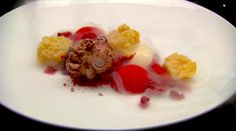Raspberry, Rhubarb, Ginger, Chocolate by Darren Purchese for Masterchef Australia MC Chocolate Parfait, Ginger Chocolate, White Chocolate Mousse, Masterchef Recipes, Raspberry Rhubarb, Masterchef Australia, Small Meals, Tray Bakes, Dinner