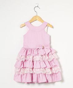 Vestido Bebê De Poá Rosa