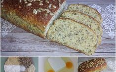 MANDLOVÝ CHLÉB S CHIA - nízkosacharidový - Jídelní plán Healthy Baking, Lchf, Banana Bread, Paleo, Low Carb, Vegetarian, Yummy Food, Homemade, Meals