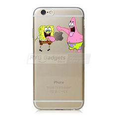 22 Stylel For Apple iphone 6 6s - Case Transparent Hand grasp Tom Cat SpongeBob - Cases covers